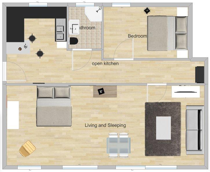 térreo do apartamento grande