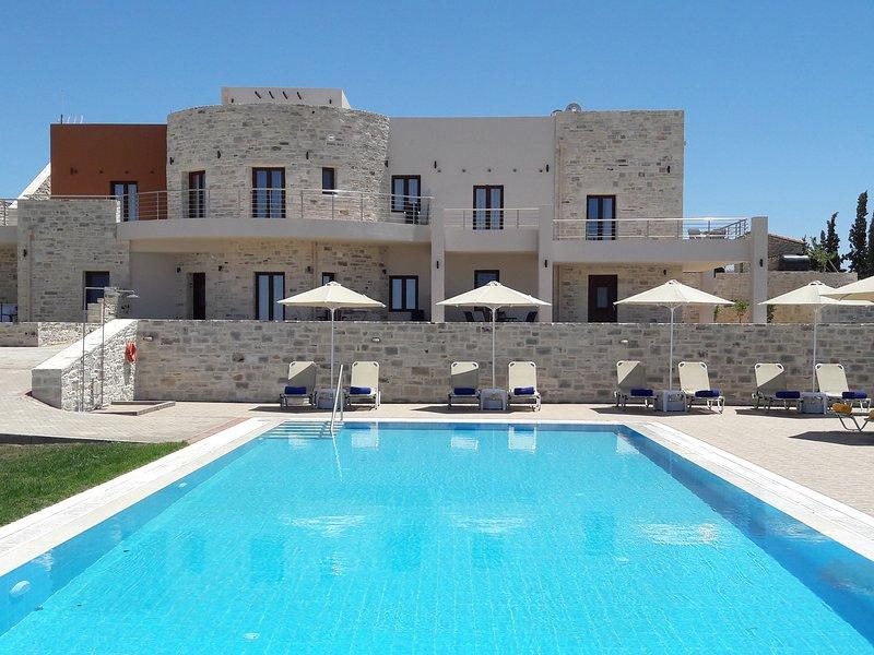 Orelia Cretan - Luxury Apartment - The 78 square meter pool by day