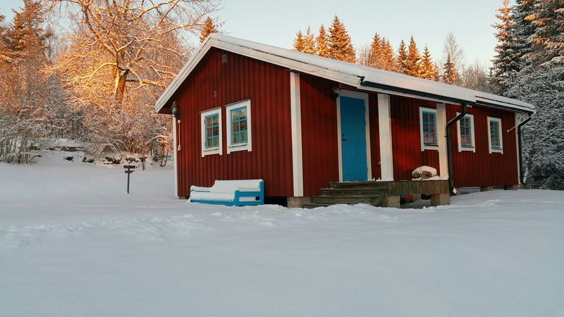Cozy cottage in the middle of the rugged nature of South Dalarna, location de vacances à Djuras