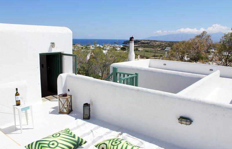 vistas de la terraza desde el dormitorio 2