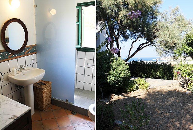 cuarto de baño adyacente a la vista al jardín Dormitorio 3 (Baja dormitorio) y