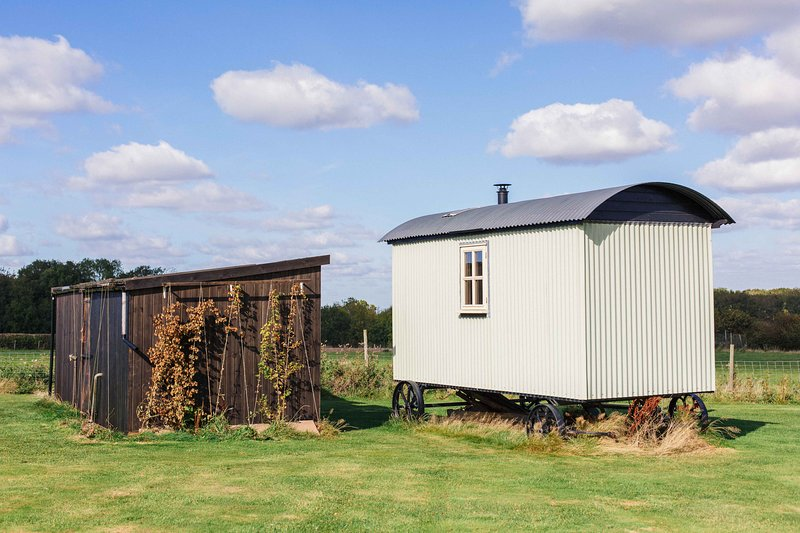 Exclusive use of kitchen and bathroom in the two wooden huts