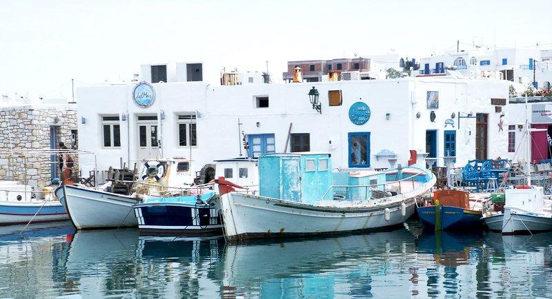 Naousa port du village