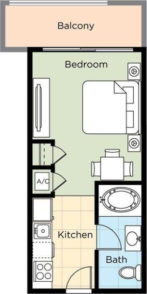 Wyndham Vacation Resort Towers on the Grove floor plan