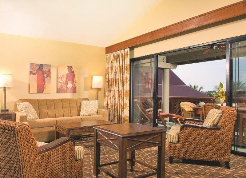Wyndham Kona Hawaiian Resort living room