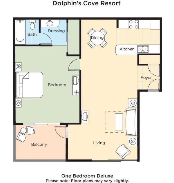 Dolphin's Cove Resort floor plan