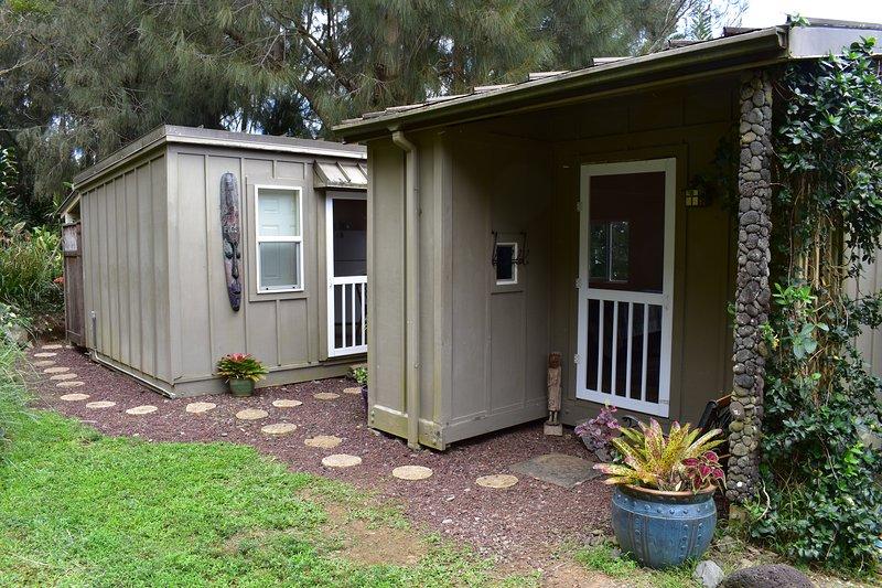 Entrata di fronte al Cottage Aloha