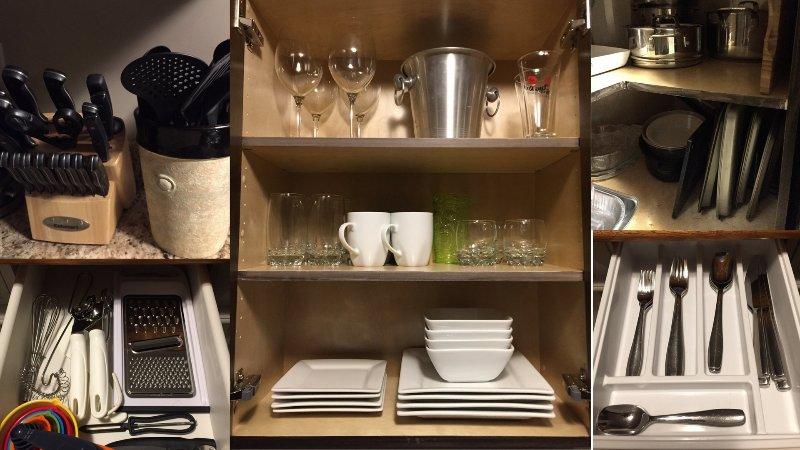 Cozinhar e pratos de serviços de alimentos e utensílios.