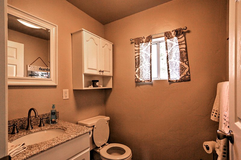 The home features 1.5 bathrooms.