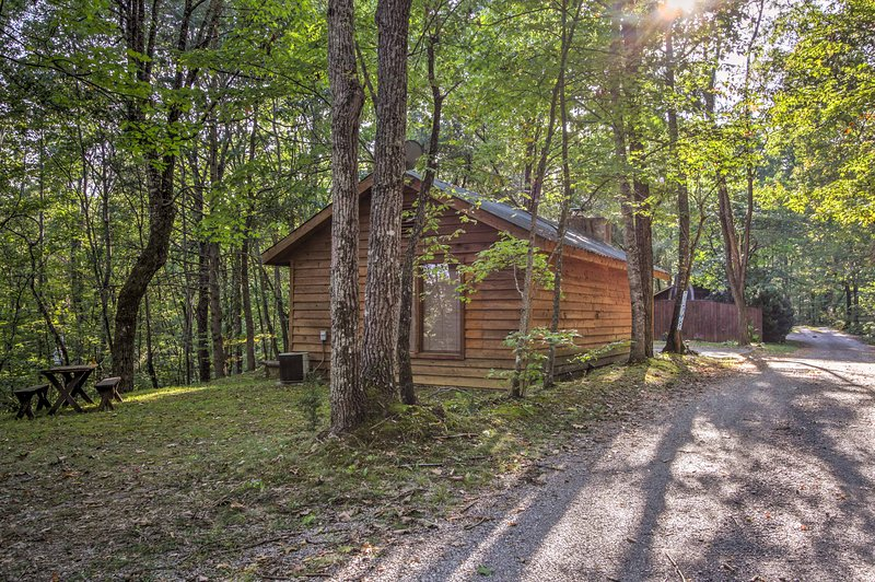 You'll love the seclusion the canopy of trees provides.