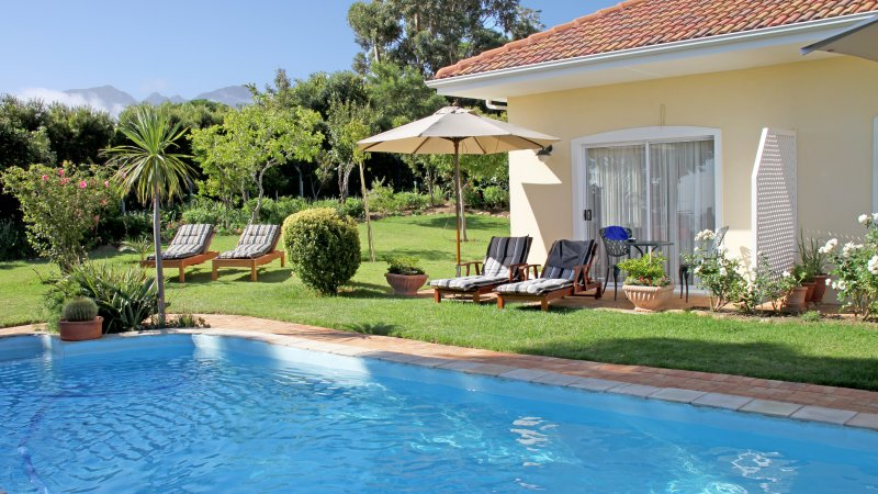 Pool, Garden and Mountain View