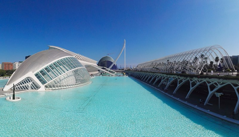 Conjunto de la Ciudad de las Artes y las Ciencias. City of Arts and Sciences site.