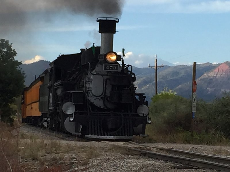 Durango-Silverton antiguo tren en las inmediaciones.