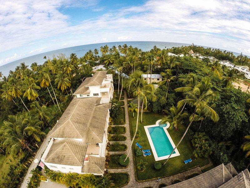fermée calme] résidence de jardin à Las Terrenas - juste à pied de la plage!