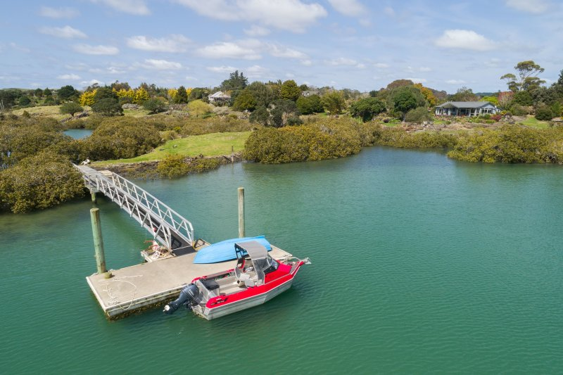 Private Mooring Pontoon, house in background