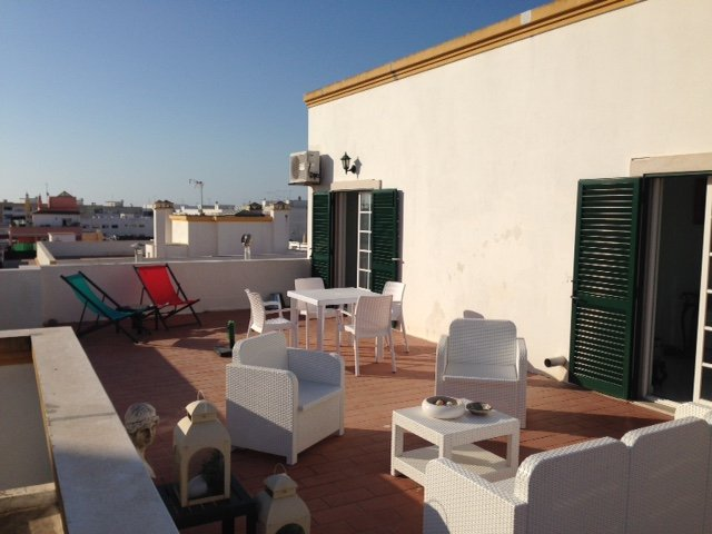 Flat penthouse olhao with  large terrace of 70m2, holiday rental in Olhao