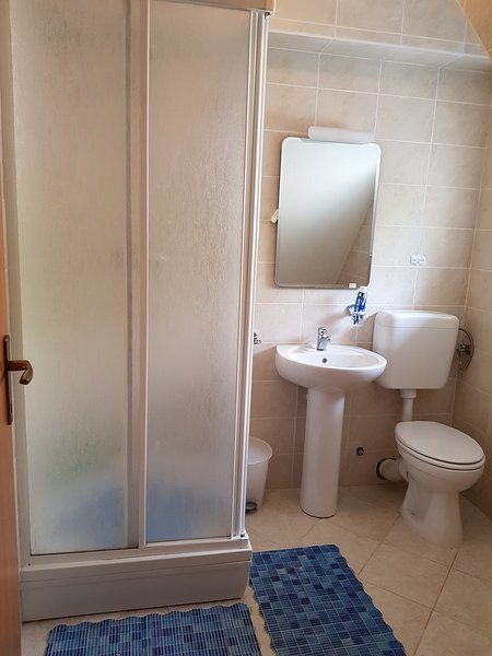douche et toilette milieu