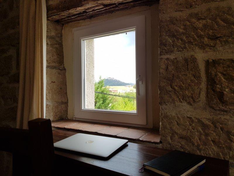 vue depuis une chambre double supérieure « fenêtre de l'écrivain »