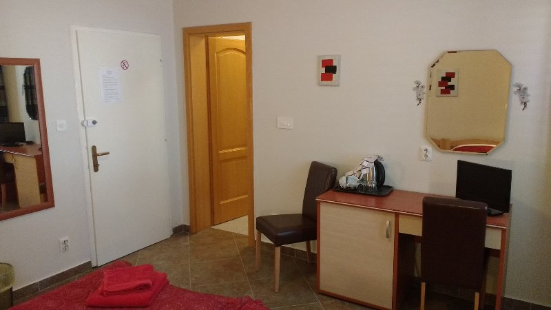 En-suite room with air-con and free internet