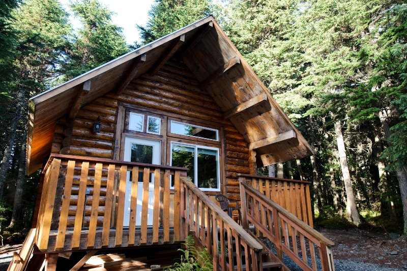 Glacier Cabin is a charming one room cabin reminiscent of days gone by