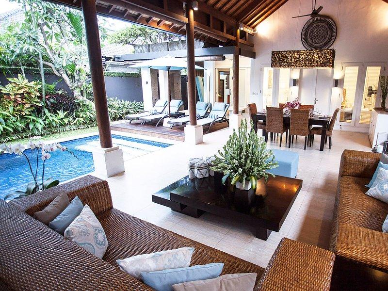 Lakshmi Villas Ubud - Wohnbereich Ausblick