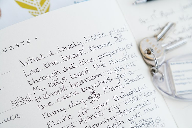 Our guest reviews are appreciated whether you leave one in our guest book, or online for all to see.
