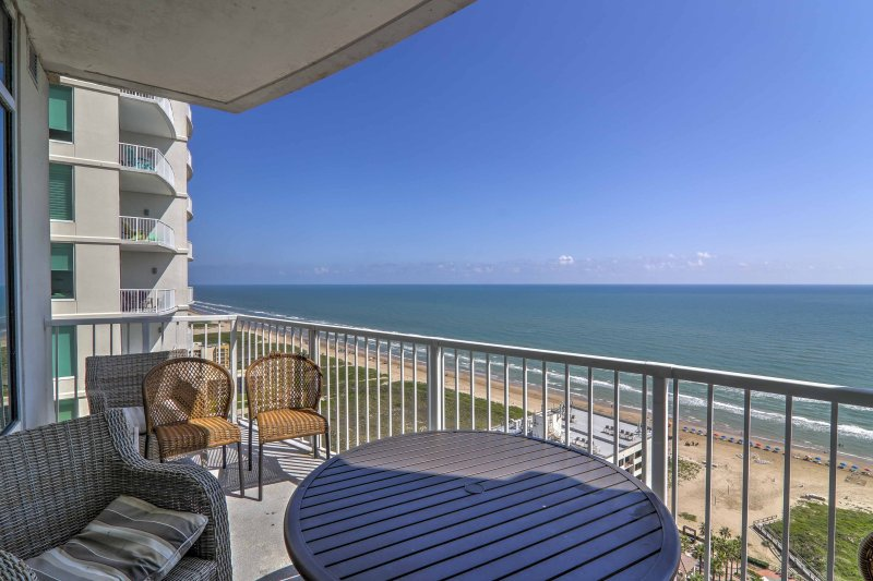 Embark on an unforgettable South Padre Island getaway at this beachfront 3-bedroom, 3-bathroom vacation rental condo.