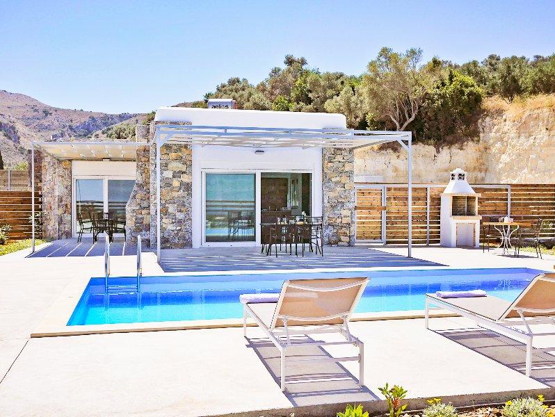 Main facade and swimming pool