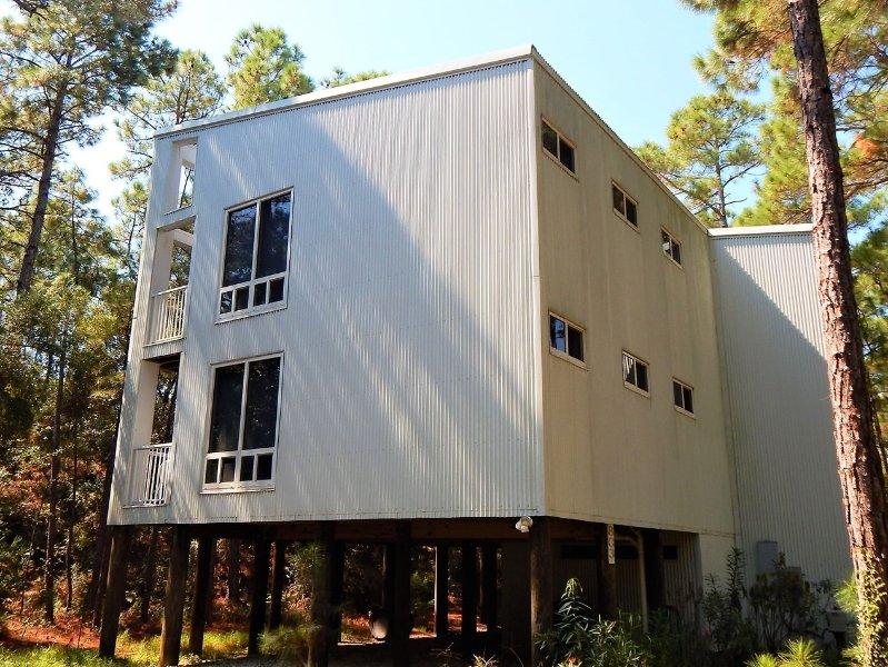Bâtiment, High Rise, Immeuble de bureaux, Cottage, Alley