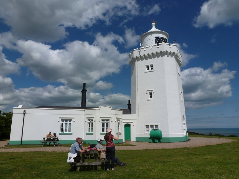 N.T. South Forland Lighthouse, great walk along the White Cliffs of Dover, view to France
