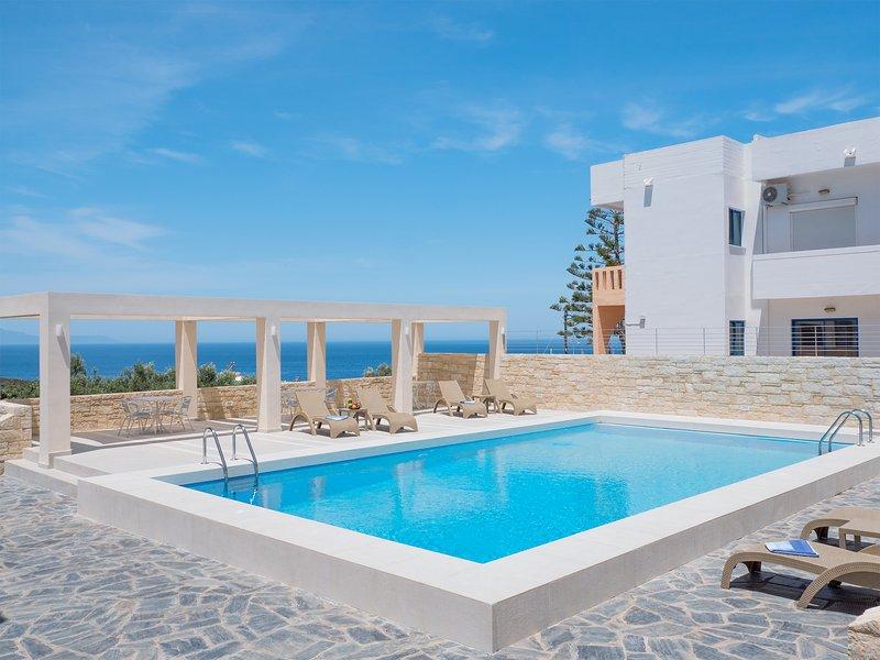 Villa Alexander Modern Studio with Seaview & Pool, holiday rental in Kalathas