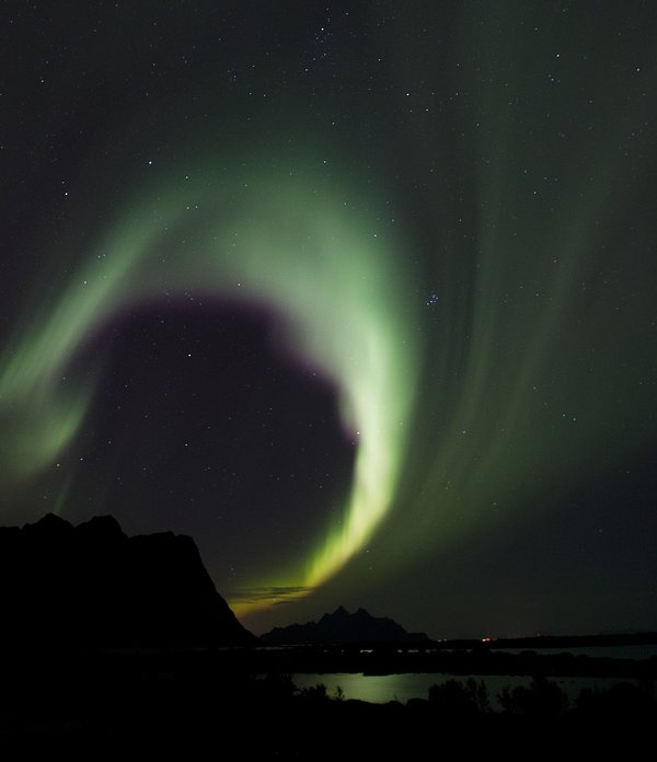 Northern Light visible in the neighbourhood