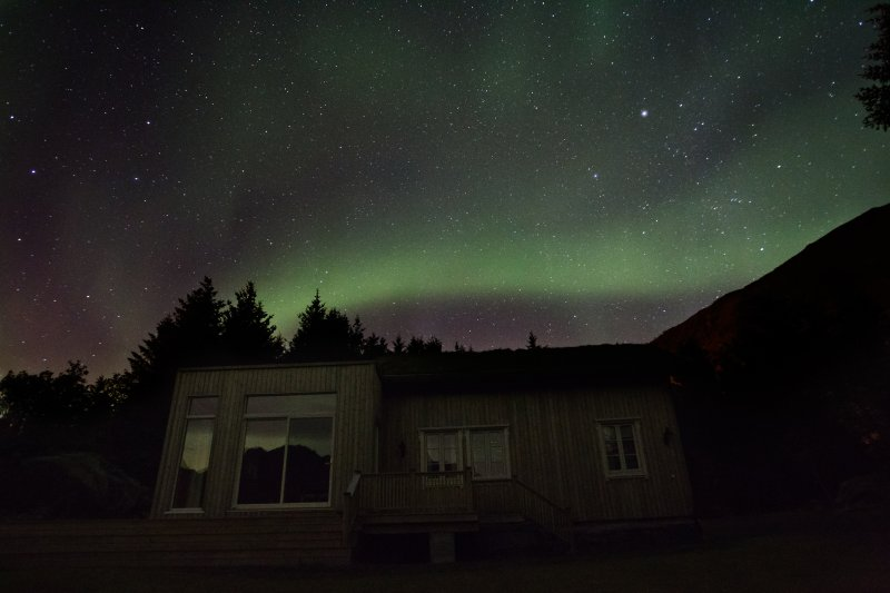Northern Light and the Lodge visible in the background