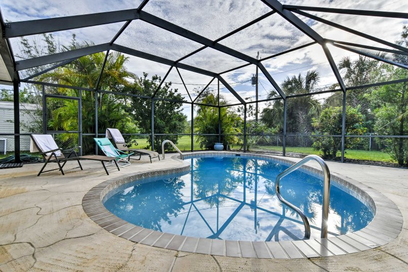 A relaxing getaway awaits at this 2-bed vacation rental home in Port Charlotte.