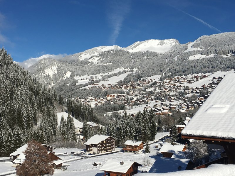 View from the apartment towards Chatel town centre