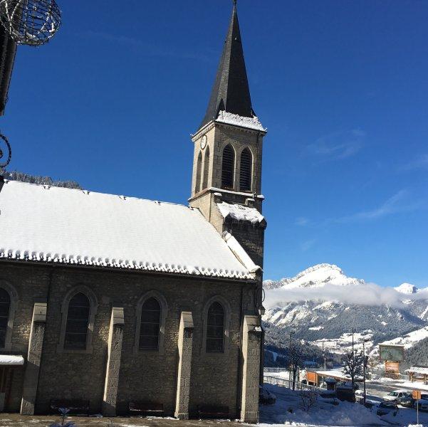 Chatel town church