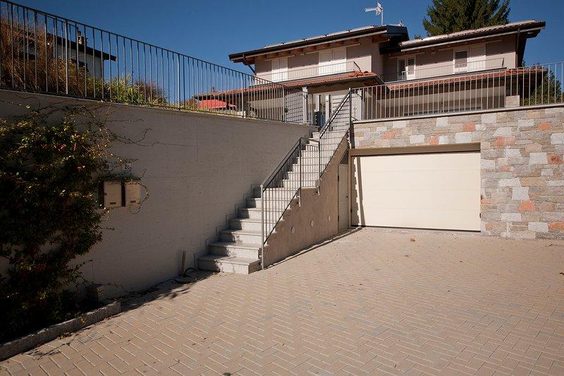 Entrance of the villa