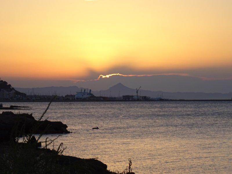 Las Rotas at sunset