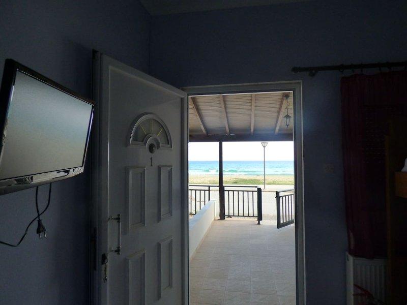 Utsikten från lägenheten entrén