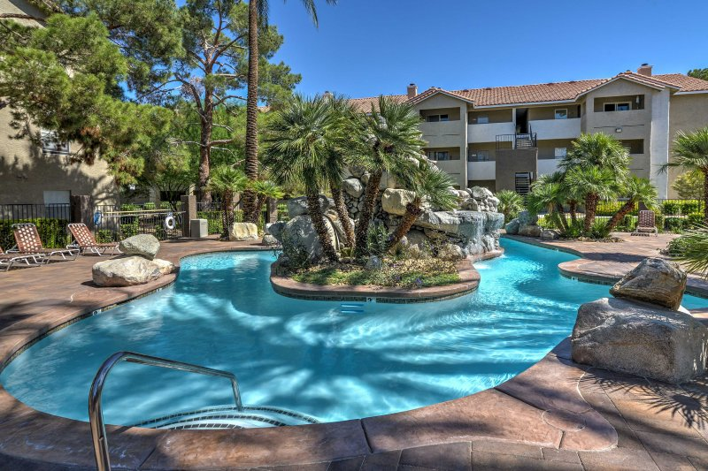Enjoy the amenities within the Flamingo Palms Resort at this vacation rental.