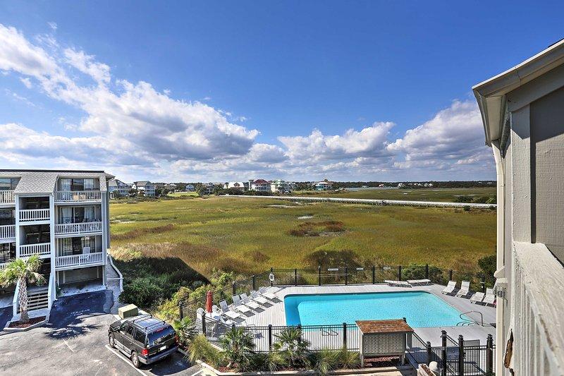 Deixe sua fuga Carolina Beach começam neste 1 quarto, aluguel apartamento 1-banho férias.