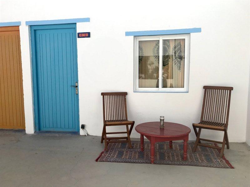 terraço quarto compartilhado