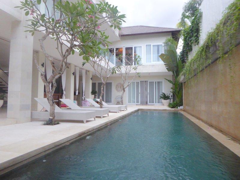 Villa Savasana pool aspect taken from floating bale