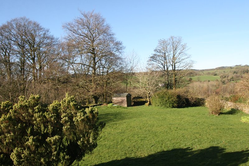 View of the garden to the south east