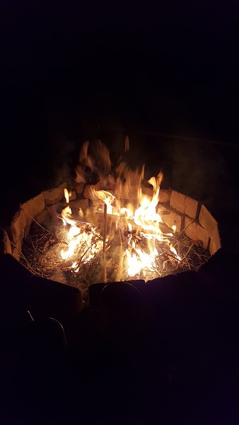 Crisp nites.. hot fire