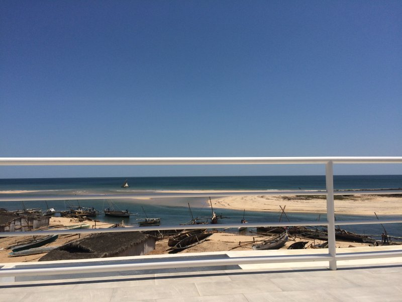 """Panoramic view of the Mozambique Channel in the """"Terrace of the Lounge Bar and rooms"""