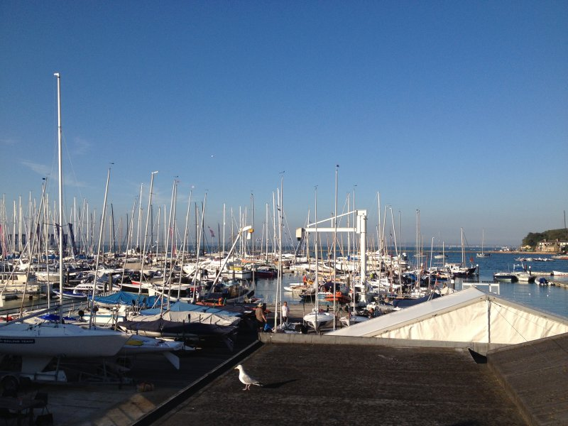 The marina at Cowes is just a minute's walk from FortyTwo,