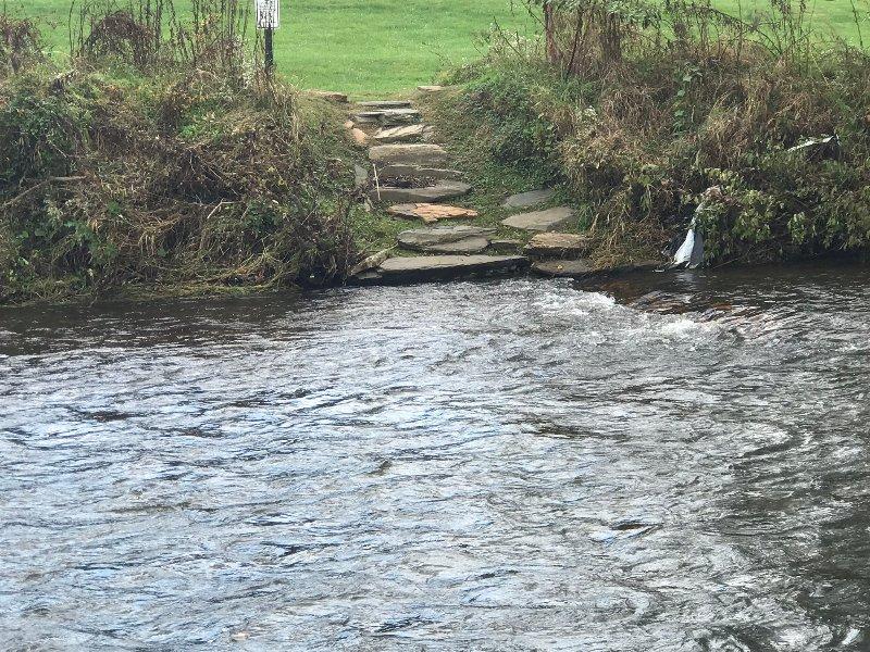 Facile accès à la rivière à distance de marche De Chalet