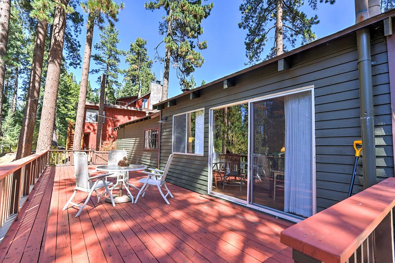 Plan a fun-filled vacation and stay at this 2-bedroom, 1-bathroom vacation rental cabin in Glenbrook.