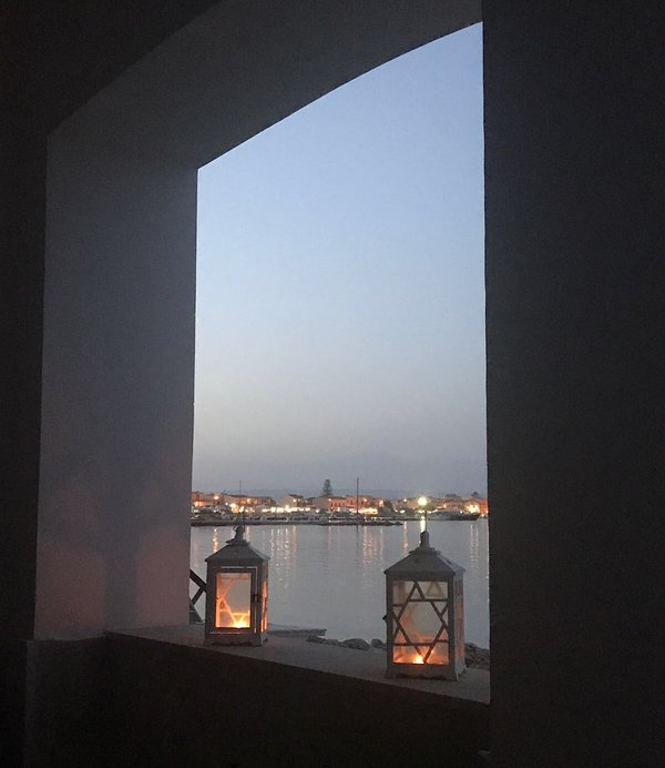 Porch-Sea at sunset